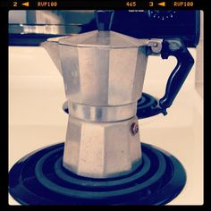 Photo by shoegalcara  French press, brewing espresso for my latte! ~CRH-S