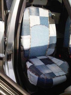 esecutto coprisedili auto jeans (fatte a mano)