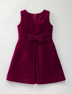 red velvet bow girls dress