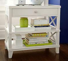 Clara Lattice Wide Bedside Table #potterybarn