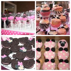 Minnie mouse and zebra 1st Birthday