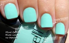 ELF Mint Cream Nail Polish