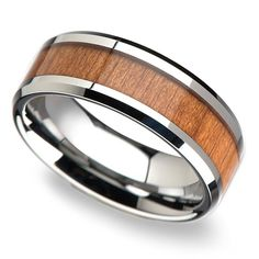 This tungsten men's band is 8 millimeters wide and boasts an inlay of reworked ash wood and beveled edges. Most Beautiful Engagement Rings, Beautiful Wedding Rings, Tungsten Mens Rings, Tungsten Wedding Bands, Wood Rings, Wedding Men, Wedding Ideas, Wedding Stuff, Gothic Wedding
