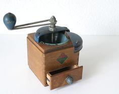 Antiguo molino de café Aleman /LEHNARTZ/ madera / por labelfrance