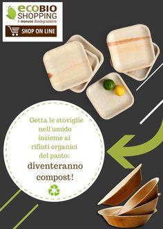 Getta le #stoviglie nell'#umido insieme ai rifiuti #organici del pasto: diventeranno #compost!