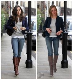 The Look For Less: Kate Middleton. Look recreated with thrift store items for a total of 40s Fashion, Classic Fashion, Office Fashion, Royal Fashion, Petite Fashion, Winter Fashion, Womens Fashion, Fashion Trends, Work Casual