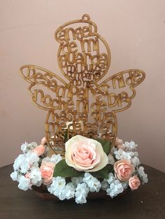 Discover recipes, home ideas, style inspiration and other ideas to try. Girl Baptism Centerpieces, Baptism Party Decorations, Communion Centerpieces, First Communion Decorations, Minnie Mouse Birthday Decorations, First Communion Party, Baptism Favors, Baptism Invitations, Shower Centerpieces