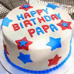 Happy Birthday Papa Cake, Happy Birthday Cake Writing, Happy Birthday Cake Images, Happy Birthday Wishes Quotes, Birthday Cake Pictures, Birthday Cakes For Men, Dad Birthday, Brithday Cake, Oreo Buttercream