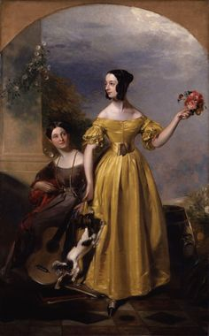 Alexina Nesbit Sandford and Catherine Hepburne Lindsay by Andrew Geddes, ca. 1838, the National Portrait Gallery, London