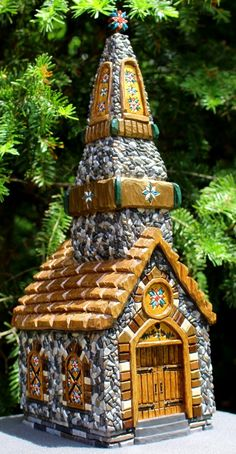 Hand carved Chapel - front by Cindy LaMay
