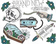brand new lyrics Leg Tattoos, Body Art Tattoos, Tattoo Drawings, Cool Tattoos, Small Tattoos, Tatoos, Art Drawings, Ship Tattoos, Lyric Tattoos