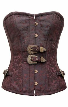 4d0195b38ce Corset Super Store Women s Steampunk Steel Boned Corset With Buckle Detail  Brown 30-Fits Natural Waist 34