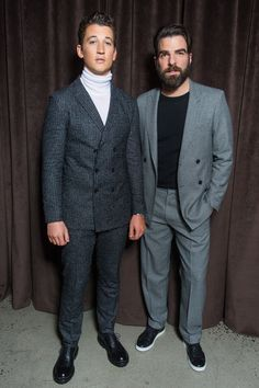Miles Teller, Lucky Blue Smith, Zachary Quinto and More Sit Front Row at BOSS Menswear Fall 2017 Photos | W Magazine