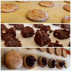 Also wine recipes for ganache. Fererro Rocher, Ganache Recipe, French Macaroons, Macaron Recipe, How To Make Cookies, No Bake Cookies, Cookie Bars, Just Desserts, Wine Recipes