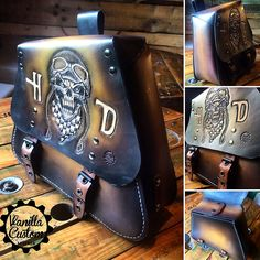 Vanilla Custom Leather - 100% hand made Leather craft For motorcycles harley dyna
