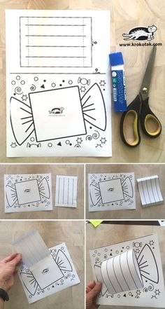 children activities, more than 2000 coloring pages Preschool Art Projects, Activities For Kids, Surprise Box, Color Art Lessons, Art For Kids, Crafts For Kids, Tarjetas Pop Up, 3d Paper Crafts, Christmas Crafts For Gifts