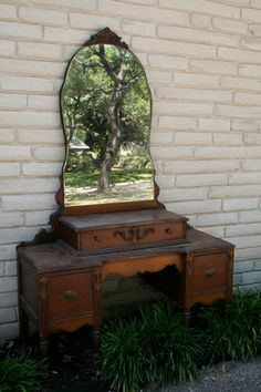 Vintage Vanity/Dressing Table by TraceysFancy on Etsy, $600.00