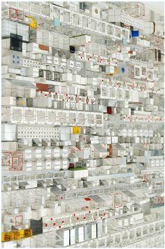 Idea de mural- ciudad modular Artista Katsumi Hayakawa