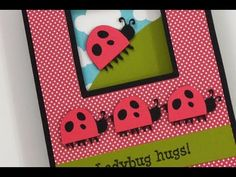CARDZ TV: LADYBUG WINDOW CARD