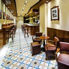 #vives #ceramic #tile #1900 #project #restaurant #floor #interior #architecture #amazing #desing #cute #beige #colorfull #beautiful #chic #d...