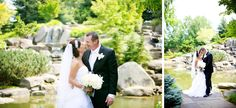Waterfall wedding photos at Meijer Gardens. (Emily Rae Photography)