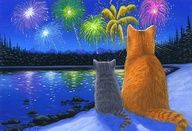 New Year´s firework ♥♥♥ Fogos de artifício de Ano Novo