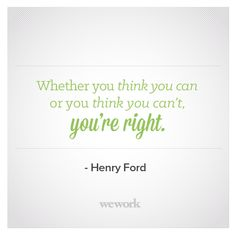 WeWork Inspirational Quote // Henry Ford