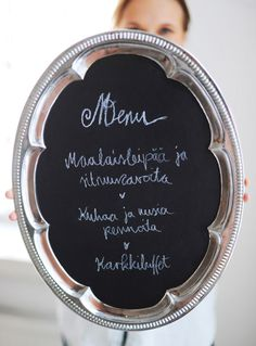 Great ideas for a table setting (instructions in Finnish)