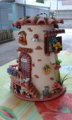 Most current Pictures air dry Clay fairy Style Clay Fairy House, Fairy Houses, Tile Crafts, Clay Crafts, Popsicle House, Pottery Courses, Doll House Crafts, Pottery Store, Clay Fairies