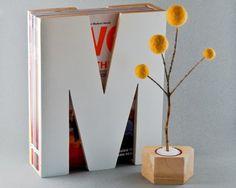 letter magazine holder from uptillnow on etsy