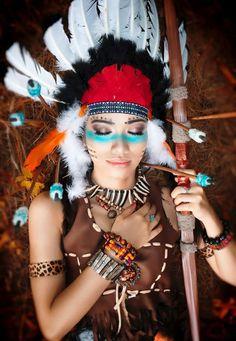 Headdress, Burning Man and Indian