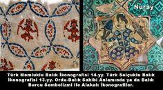 Balık İkonografisi Türkler için HAKİMİYET SEMBOLÜ Tarzında kullanılmıştır. Memluklu kumaşının üzerinde ve Selçuklu Seramik eser üzerinde, Ortada Bağdaş kurup oturmuş Kağan, iki eliyle Balık Tutar. ŞEHİR SAHİBİ ya da ÜLKE SAHİBİ anlamında..Balık Ana Tanrıça Arketipi ile Bağlantılıdır. Türklerin Oturdukları Toprağa-Şehire Balık demeleri de, bakan, büyüten, besleyen, Toprak Ana düşüncesiyle alakalıdır. Dediğim gibi.