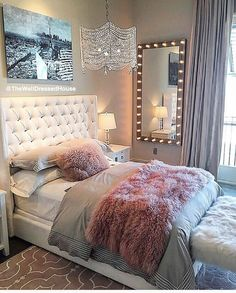 Probably The Most Beautiful Girls Bedroom Dream Rooms – My Life Spot Dream Rooms, Dream Bedroom, Home Decor Bedroom, Girls Bedroom, Master Bedroom, Teen Bedrooms, Small Bedrooms, Bedroom Themes, Tween Bedroom Ideas
