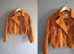 90s South Western Suede Fringe Biker Jacket by VioletsAtticVintage