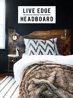 Live edge headboard