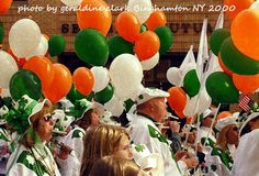 St Patrick's Day Parade Binghamton NY 2000 Celtic Kazoo Band   ...photo by geraldine clark