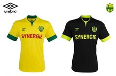 The new home and away kits for FC Nantes and RC Lens, two French teams that will be looking smart next season. Soccer Teams, Football Soccer, Rc Lens, Fc Nantes, Football Kits, Home And Away, Polo Ralph Lauren, Club, Sports