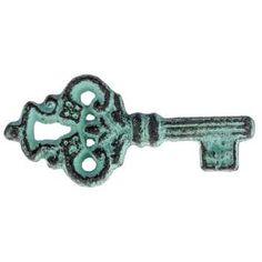 Blue Rustic Metal Key Knob