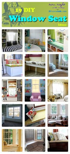 Window Seats & Nooks Idea Box by Tabatha Muntzinger (Tabulous) 19 {DIY} Window Seat Ideas Home Diy, Home, Diy Window Seat, Diy Window, Home Remodeling, Diy Home Improvement, New Homes, House, Home Projects
