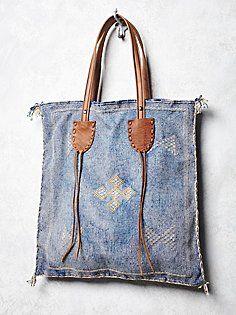 Granada Tote - Make with vintage Thai fabric