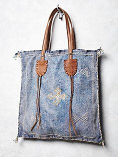 Granada Tote - Make with vintage Thai fabric