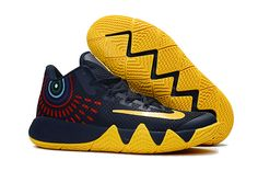 f19149f853d9 Nike Kyrie 4 Fast Shipping Nike Zoom Kyrie 4 Basketball Shoe Kyrie 4 Dark Blue  Yellow Kyrie Irving 4 New Release 2017 For Sale