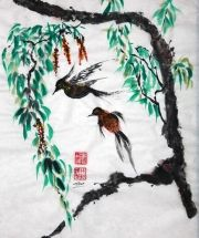 Christine Leisi - Liberty #sumie #brushpainting #Ink and Wash Painting #Chinese Art #Japanese Art
