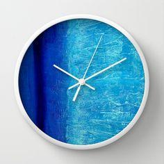 Blue Serenity Wall Clock Wall Clocks, Serenity, Blue, Home Decor, Decoration Home, Room Decor, Clock Wall, Interior Decorating