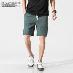 Aancy Mens Shorts Cotton Fitness Pants Man Solid Slim Fit Denim Shorts Jeans Plus Size 4XL 5XL