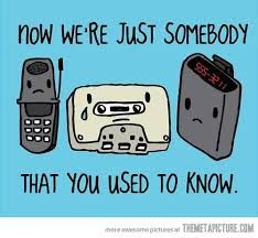 Very cute.  Flip-phones are not that long ago.  Remember when pagers were parental tracking devices?