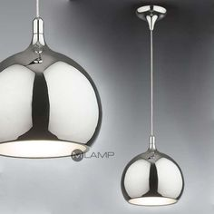 LAMPA wisząca FLASK MA03586C-001 CH Italux metalowa OPRAWA zwis kula ball chrom