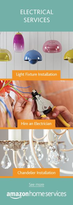 Don't let sparks fly.  Hire an electrician for light fixture installation, custom electrical services, and chandelier installation and more.