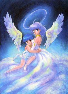 "Yu Morisawa & her alias Creamy Mami from ""Creamy Mami The Magic Angel"" series by manga artist Akemi Takada."