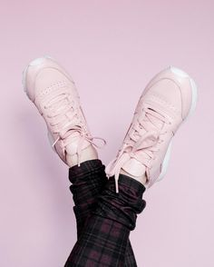 Baby pink sneakers!! Cute for casual looks, or athleisure!